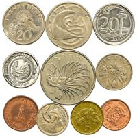 SINGAPORE COINS FROM SOUTHEAST ASIA ISLAND SINGAPOREAN OLD COLLECTIBLE COINS SET