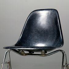 1 (von 4) Fiberglass Sidechair Charles Eames Vitra Herman Miller blau navy blue