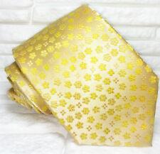 Cravatta Oro fiori Nuova  100% seta Top quality realizzata a mano marca TRE