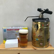 Mini beer keg 5L tap faucet party star deluxe co2 cartridges unthreaded 10 pack