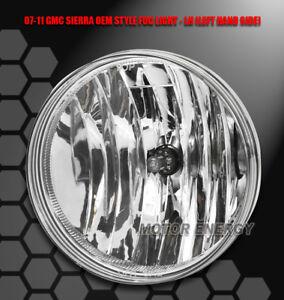 07-13 GMC SIERRA 1500/14 2500 3500 HD BUMPER DRIVING FOG LIGHT CHROME DRIVER LH