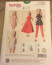 Burda Pattern 6960 Barbie / Fashion Doll Clothes 11 1/2- 12 1/4""