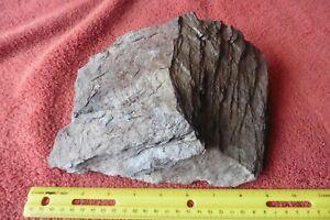 NY Slate Rock Pink Red-ish Natural stone Terrarium Lizard Basking Aquarium Decor