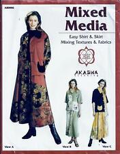 Akasha Sewing Pattern Mixed Media Women's Easy Shirt & Skirt XS up to XXL