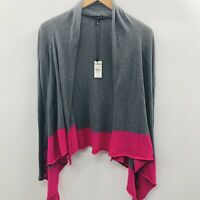 Express Womens Size XS Long Sleeve Open Front Cardigan Sweater Colorblock Gray
