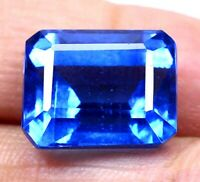 AAA Brazilian 17.60 Ct Natural London Blue Topaz Loose Gemstone Certified F0289