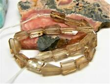 20 RARE NATURAL CHAMPAGNE IMPERIAL TOPAZ FACETED NUGGET BEADS 7.5-10mm 43.75cts