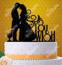 "Princess Bride Inspired As You Wish Wedding Cake Topper 6"" W"