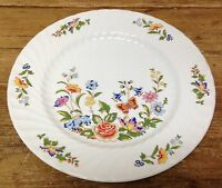 Aynsley 1 Dinner Plate Cottage Garden England Fine Bone China Butterfly Flowers