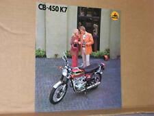 1974 Honda CB450 K7 Motorcycle Sales Brochure / Poster - Literature