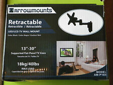 """TV Wall Mount Full Motion Swivel Articulating Arm Retract Rotate 13"""" to 30"""" TVs"""