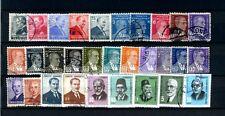 COLLEZIONE TURCHIA TURKEY LOTTO FRANCOBOLLI PERSONALITA' Stamps - Timbres