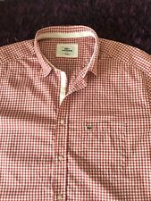 Super Cool 100% Genuine Lacoste Slim Fit Red & White Check Shirt In Size 45, XXL
