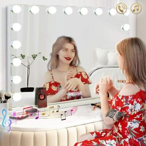 Hollywood Lighted Makeup Vanity Mirror Large with Bluetooth LED Lights