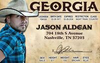 jason aldean id card - plastic ID card Drivers License -