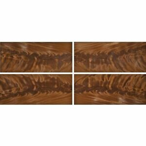 "Exotic Mahogany Crotch Wood Veneer Raw/Unbacked (4 pc Pack - 16"" x 36"" Total)"