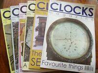 JOB LOT X 6 CLOCKS CLOCK HOROGICAL  MAGAZINES 2006 MAR JULY SEPT OCT NOV DEC