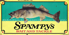 """SPAMPYS BAIT AND TACKLE"" ADVERTISING METAL SIGN"