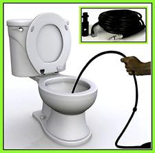 15m Pressure Washer Flexible Hose Set Pipe Cleaner Drains Unblocker Toilet NEW