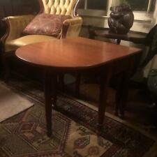 "Bench Made children's size Walnut Swing Leg Drop Leaf Table, 19 1/8"" tall."