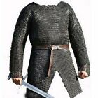 Flat Riveted With Flat Warser Chainmail shirt 10 mm large Size full sleeveReenactment & Reproductions - 156374