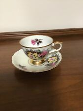 Lovely Hand Painted Roses and Gold Trim Cup and Saucer