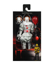 "It (2017) PENNYWISE Clown 8"" Retro Clothed Action Figure NECA In Stock"
