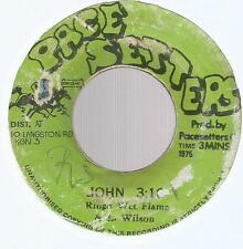 """RINGO WITH FLAMES - JOHN 3:16 / THE PACE SETTERS BAND - JOHNNY DUB         7""""VG-"""