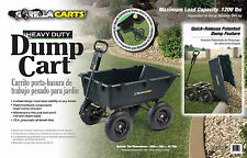 NEW Gorilla 1200lb Capacity Poly Dump Utility Yard Cart Black Dump Wheel Barrow
