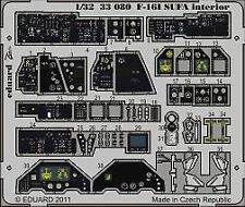Eduard Accessories 33080 - 1:32 F-16L Sufa Interior S.A. For Academy - Ätzsatz -