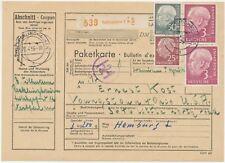 BUNDESREPUBLIK 1956 HEUSS 25 Pf, 50 Pf u 3 DM (2x) extrem selt. MiF nach USA RR!