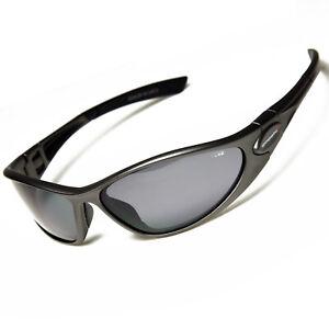 Sonnenbrille gun matt schmale Größe Sportbrille Polarisierende Gläser