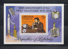 Liberia 1976 Bell Telephone  MS   Sc C212  Mint Never Hinged