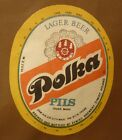 OLD POLISH BEER LABEL, BROWAR ZYWIEC POLAND, POLKA PILS