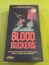The Bloodsuckers (VHS) Patrick Macnee, Peter Cushing, Vcl Release Very Rare