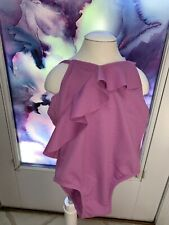 SWIMSUIT TODDLER SIZE 3T ONE PIECE LAVENDER RUFFLE SUPER CUTE!!