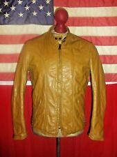 Superb  BROOKS  Gold Label Cafe Racer Motorcycle Leather Jacket . Size 36 .TALON