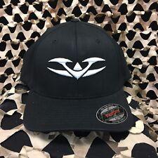 New Valken Paintbal V-Logo Flexfit Hat - Black/White - L/Xl