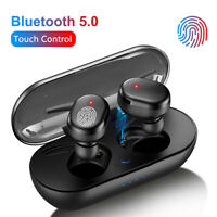 TWS Bluetooth 5.0 Wireless Earphone Stereo Headsets Mini In-Ear For iOS Android