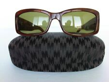 Vintage Women's Max Mara Sunglasses Brown, Green Lenses with Case