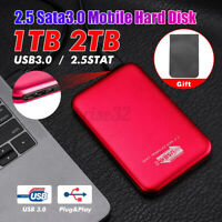 Portable USB 3.0 2TB External Hard Drives HDD SATA Desktop Mobile Hard