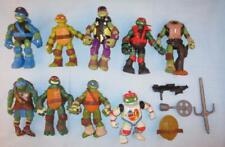 "Vtg TMNT Teenage Mutant Ninja Turtles Action Figures Lot of 8 + Weapons 5"""