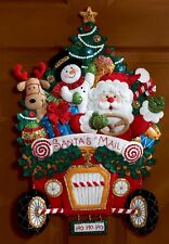Bucilla Santa's Christmas Mail Truck Felt Wall Hanging Kit #86205 Rudolph Frosty