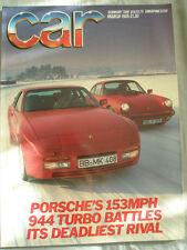 Car Mar 1985 Porsche 944 Turbo vs 911, Astra GTE vs Golf GTi