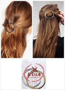 xFresca Women's Hollow Circle Geometric Metal Hair Pin Hair Clip Accessories