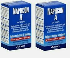 Naphcon A Eye Drops - SET of (2) 15 mL (.5 fl oz) EX 2022+ EYE ALLERGY RELIEF