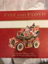 Fitz and Floyd Santa's Classic Car Musical Christmas Figurine 2015 Authentic