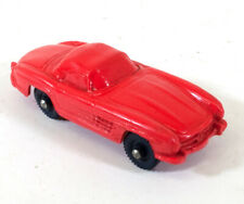 Vintage Tomte Laerdal Mercedes Red Rubber Toy Car Norway F685