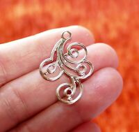 4x Flower Leaf Connector Charms for Bracelet Spiral Chandelier Earring Findings