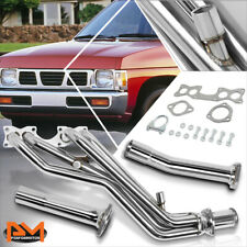 For 90-95 Nissan D21 Pickup 2.4L S.S High Flow Tri-Y Exhaust Header Manifold Kit